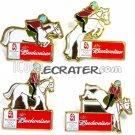BEIJING 2008 OLYMPIC SPONSOR BUDWEISER BEER 4 PINS SET