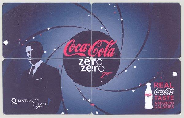 2009 ZERO COCA COLA 007 JAMES BOND PUZZLE CALENDAR CARDS