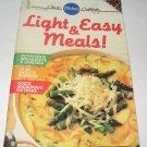 Pillsbury Classic  no. 87  Light and Easy Meals 1988