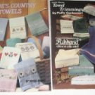 Leisure arts Debbies Country towels and Towel Trimmings cross stitch patterns
