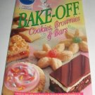Pillsbury Bake off Cookies Brownies and bars recipes cookbook