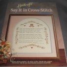 Country Handcrafts Say it in Cross Stitch
