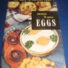 300 ways to serve prepare eggs Recipes Number 10 cookbook