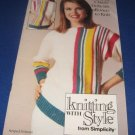Knitting with style from Simplicity 0429 Knitting pattern