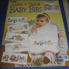 Leisure Arts Cute n quick baby bibs cross stitch by Linda Gillum