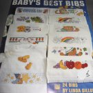 Leisure arts Babys best bibs booklet cross stitch patterns 2464