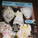 McCalls Hankie Flower Angels with ribbon embroidery