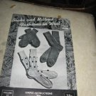 Socks and MittensFashions in wool by Hilde knit patterns