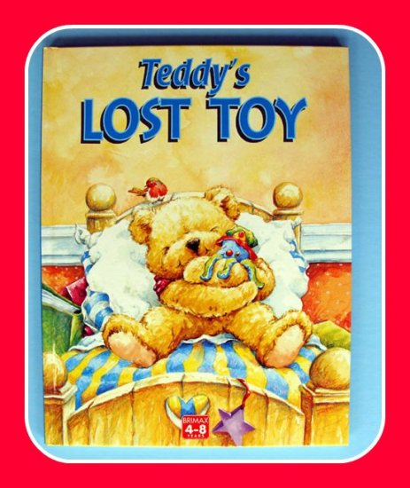 TEDDY�S LOST TOY Hardcover Childrens BOOK Vocabulary