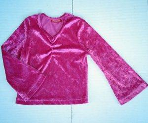 Girls LUXURIOUS Sparkle PINK Velour TOP SHIRT 4 5 Boho
