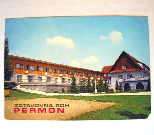 VINTAGE Czechoslovakia Czech Pribram Photo POSTCARD Old Zotavovna Permon Vestec