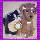 NEW Kitty CAT Brown Puppy DOG Door Bell DOORBELL Cover Illuminated Decorative