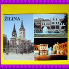 SLOVAK Town ZILINA Vintage POSTCARD Slovakia Town Square City Center Cathedral