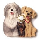 NEW DOGS Door Bell Illuminated DOORBELL Sheepdog Yorkie Lab Belgian Griffon Lane