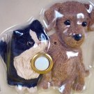 Kitty CAT Brown Puppy DOG Door Bell DOORBELL Cover Illuminated Button Lighted
