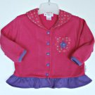Vintage Gymboree Everlasting Flower Swing Top Jacket S 18 months 2T 3T Cardigan