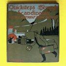 Author Presentation Antique 1908 Book Quicksteps Through Scandinavia Moscow Old