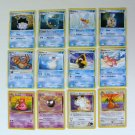LOT POKEMON Trading CARDS Nintendo Buizel Dragonite Gastly Feebas Meowth Slowbro