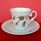 Vintage Eschenbach Cup Saucer Plate Demitasse Set Tiny Flowers Bavaria Germany