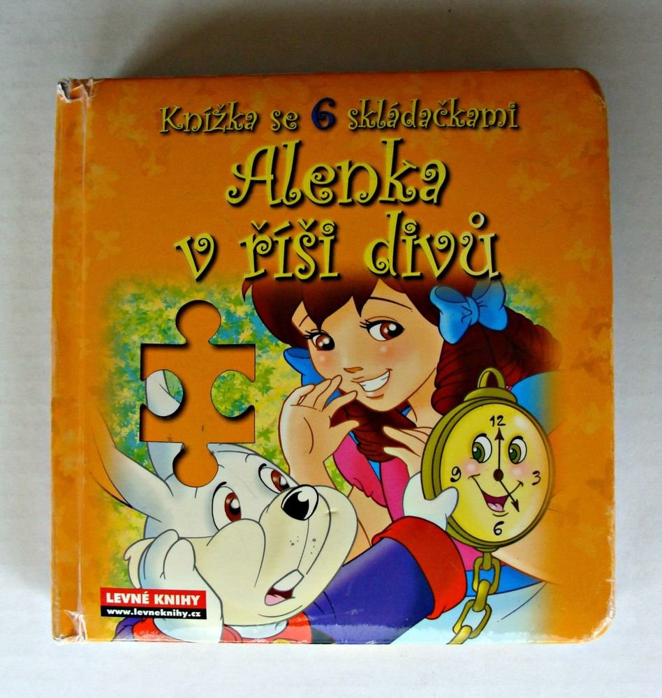Alice In Wonderland Czech Language Illustrated Edition Board Book Puzzles 2007