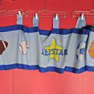 Sports All Star Theme Window Valance Treatment Boys Bedroom Room Athletic Soccer
