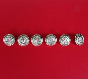 Metal Crest Crown Replacement Buttons Olive Leaves Wings Anchor Uniform Sewing