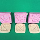 3 Avon Candy Cane Christmas Holiday Guest Travel Mini Soap Lot Vanilla Cream