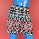Renn Tribal Aztec Ikat Shorts L 12 14 16 Multi Color Mini Pants Pull On Style