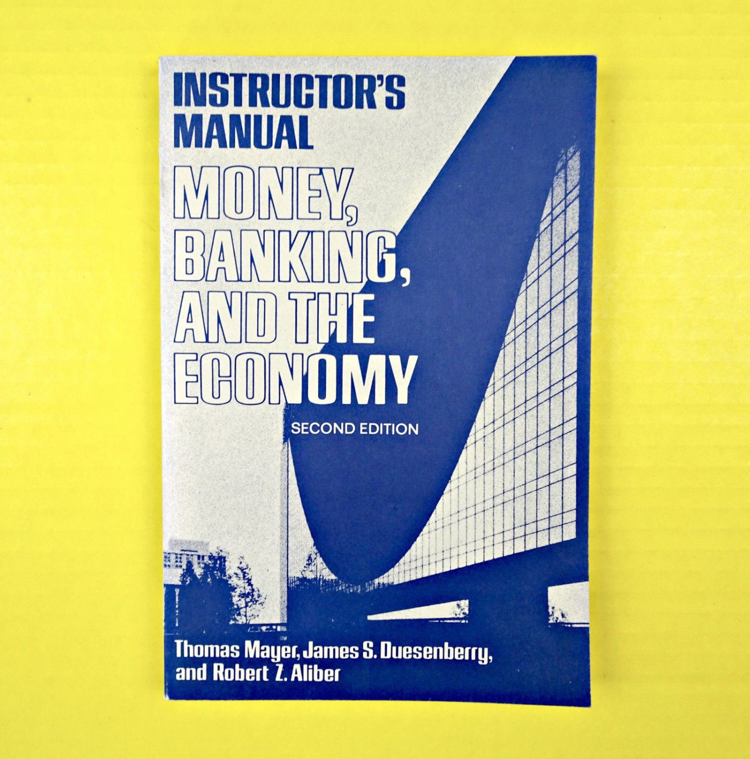 Instructor�s Manual Money, Banking, And The Economy T. Mayer Paperback Book Old
