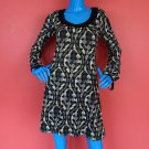 Wrapper Retro Mod Dress S 4 6 8 Geometric Mini Short Glitter Sparkle Travel