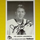 Jason Labarbera Portland WinterHawks Signed Photograph Photo Picture 1996 1997 ✔