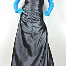 Flirt By Maggie Sottero Prom Pageant Dress 4 S P4261 Gray Formal Gown Ball Brida