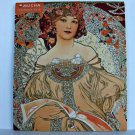 Art Noveau Alphonse Mucha Wall Calendar 2010 Mini Czech Monthly Neoclassical ✔
