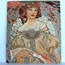 Alfons Mucha Calendar 2010  6 x 7 Alphonse Fine Art Glitter Mini Wall Monthly