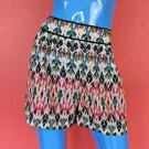 Ikat Print Shorts Large L 12 14 16 Southwestern Boho Summer Beach Tribal Aztec