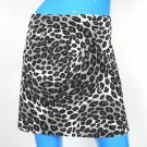 Just For Wraps Leopard Animal Mini Skirt Juniors 9/10 USA Wrapper Cotton Spandex