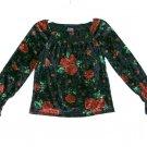 Children's Place Smocked Fashion Boho Top Crushed Velvet Girls S 5 6 Roses