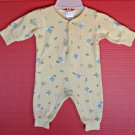 Baby's First Yellow One Piece Romper Coverall  Stretchie 0 - 3 mo Bunny Baby
