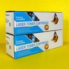 Lot of 2 Premium Compatible Laser Toner Cartridge HP Black Printers Replacement