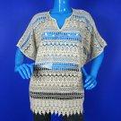 Cabi Love Carol 5026 Lace Crochet Oversized Top Tunic Poncho XS 4 6 Boho Bohemia