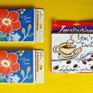 Lot Vintage Party Invitation 3 Packages Unused NOS Coffee Tea Hallmark Tropic