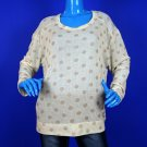 Bar III Oversized Metallic Polka Dot Sweater Pullover M 8 10 12 Preppy Shiny ✔
