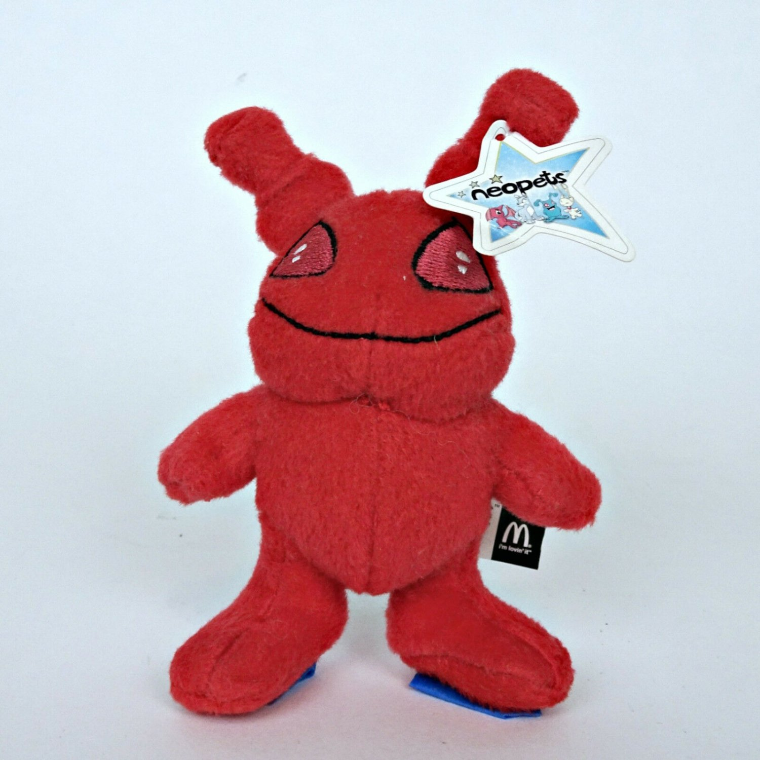 Neopets Red Grundo 2004 McDonald�s Toy Plush Stuffed 4.5� Happy Meals Pocket