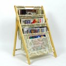 Collapsible Folding Magazine Rack Easel Floral Ornate Jacquard Storage Organize