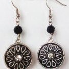 earrings-Silver Flower-324