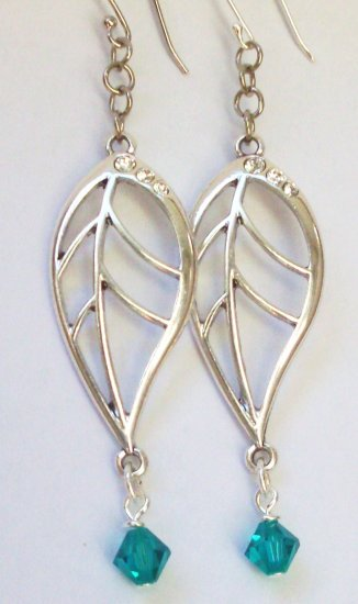 sterling silver earrings-I Feel Leafy-327