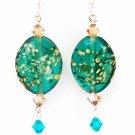 earrings-Green Milkyway-317