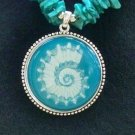 necklace-Spiral Chip-TurqN102