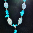 necklace-Turquoise Flower-TurqN103