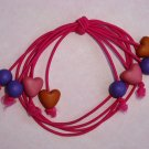 Free Shipping! Handcrafted Heart Beads Elastic Cord Bracelet